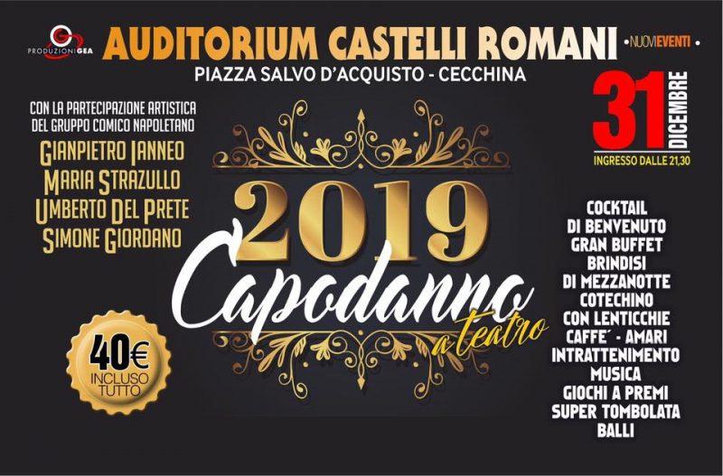 Capodanno Auditorium Castelli Romani 2019